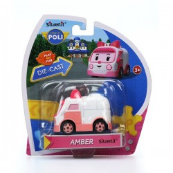 amber de ambulance robocar poli mini die cast voertuigen collectie. Black Bedroom Furniture Sets. Home Design Ideas